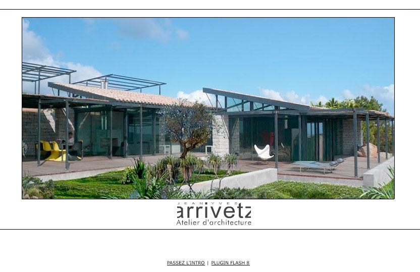 Page d'accueil Site internet Jean-Yves Arrivetz - Création Marck seignol