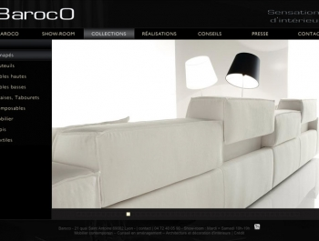 Site internet Baroco - Ecran Page Produits
