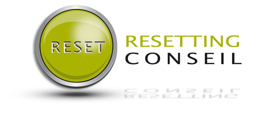 Logo Resetting Conseil - création Marck Seignol