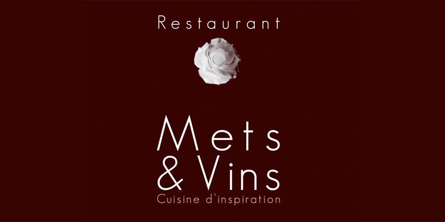 Logo Mets & vins - Création Marck Seignol
